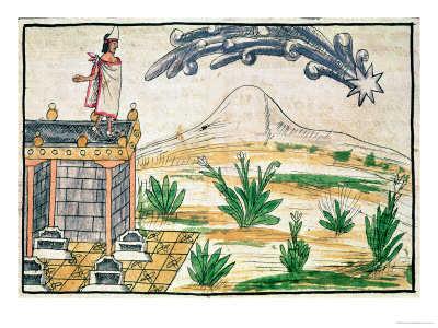 Zmierzch Montezumy - obrazek z jednego z Kodeksów  z czasów konkwisty